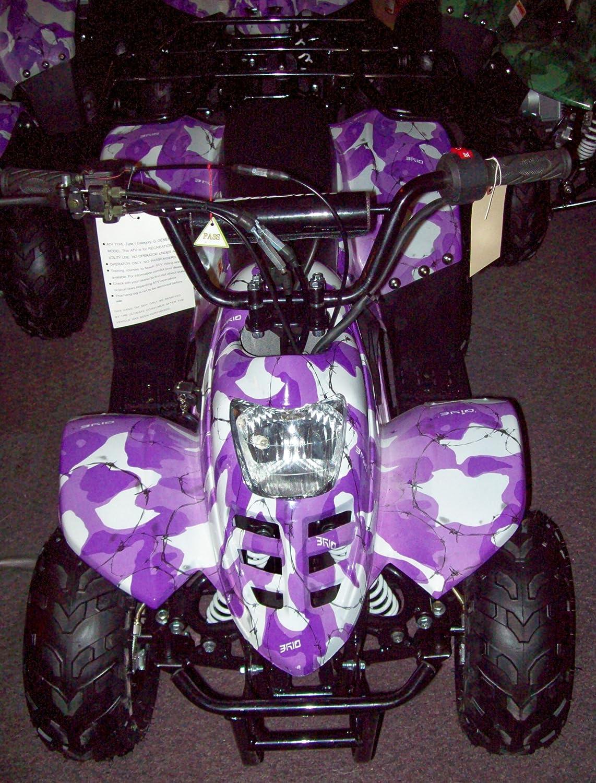 amazoncom 2009 automatic gas powered 110cc purple camo kids quadatv4 wheeler motor vehicles everything else