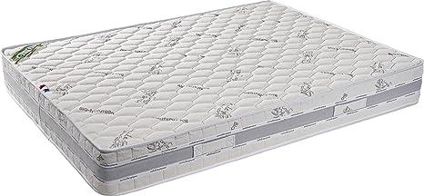 Argan colchón espuma poli LATTEX indeformable – altura 25 cm – Face invierno lana Merinos –
