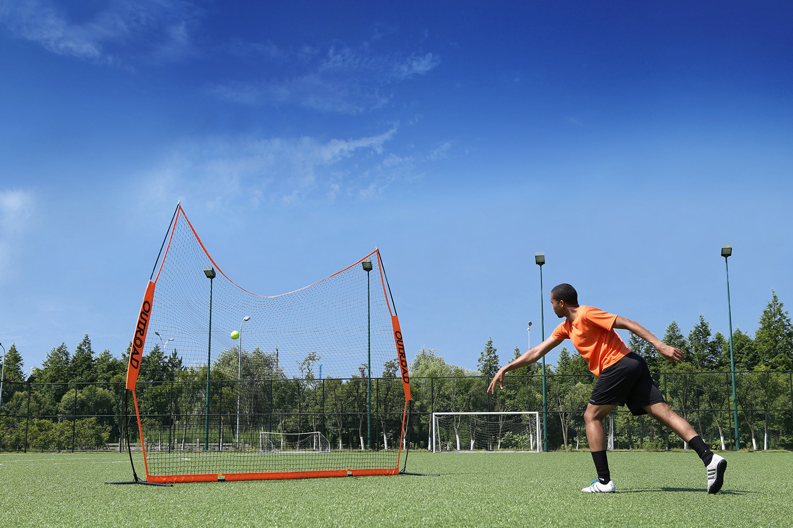 OUTROAD 12x9 FT Barrier Net - Portable Sports Barricade Practice Backstop Net w/ Carry Bag by OUTROAD (Image #4)