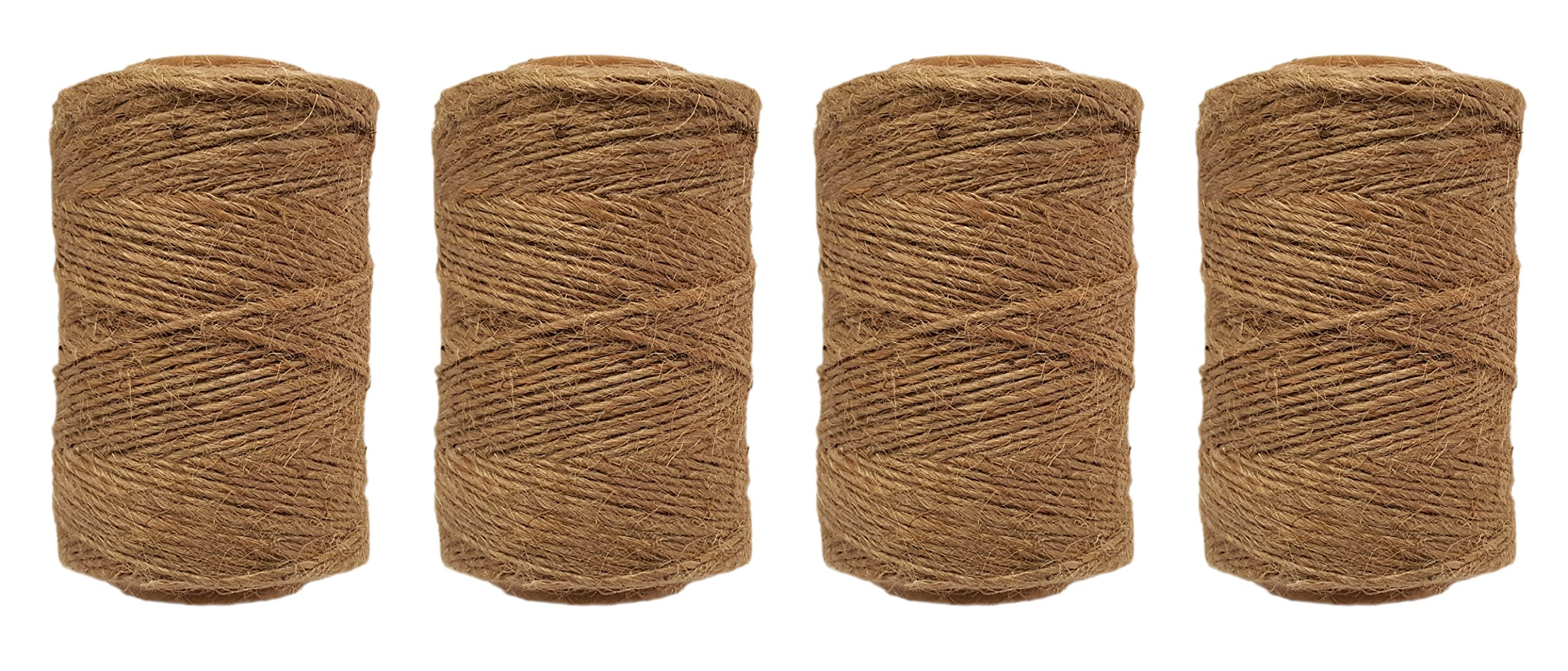 Black Duck Brand Set of 4 Spools of 100% Jute Garden All Purpose Twine! 300 feet per Spool! (4) by Black Duck Brand (Image #1)