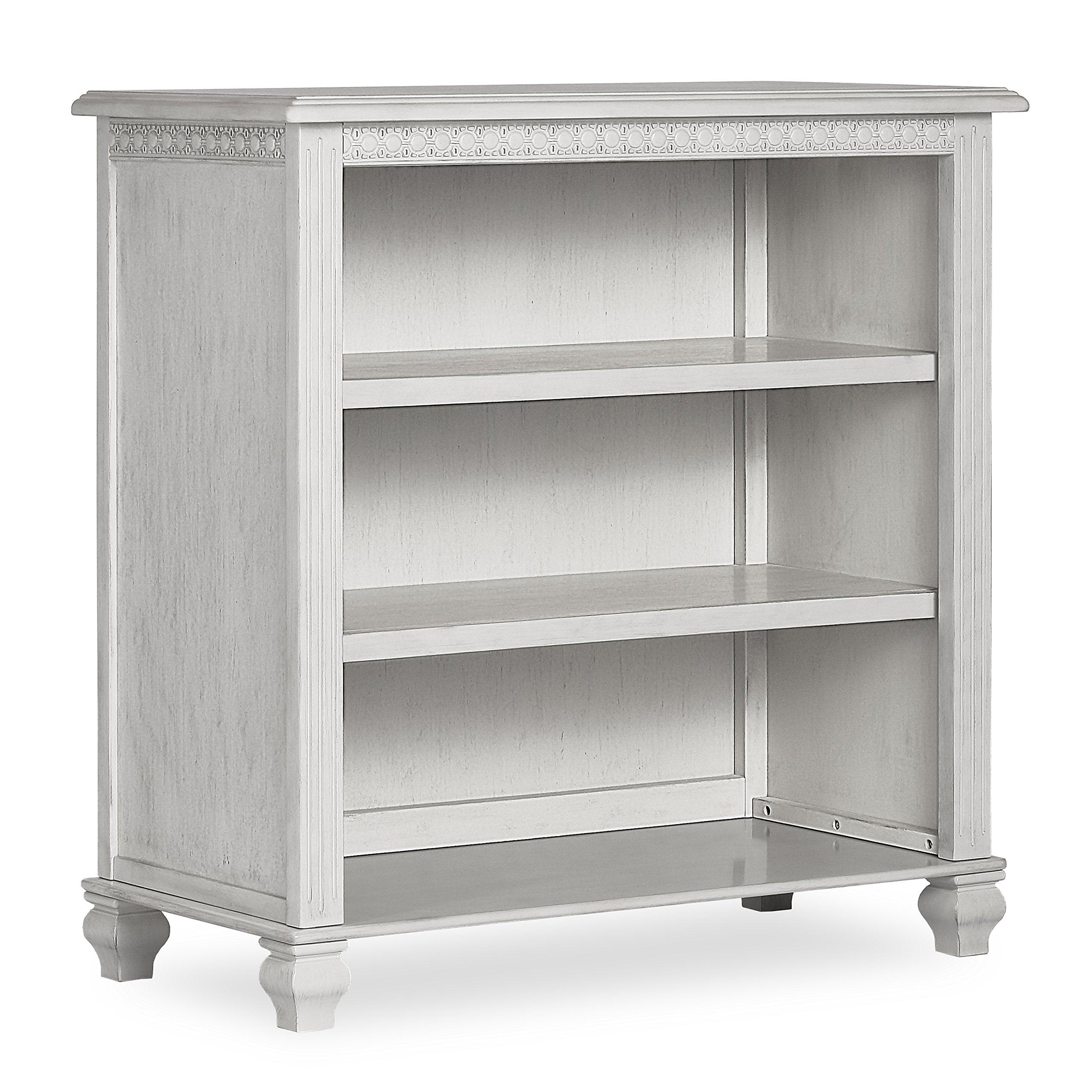 Evolur Madison Mini Hutch/Bookcase, Antique Grey Mist