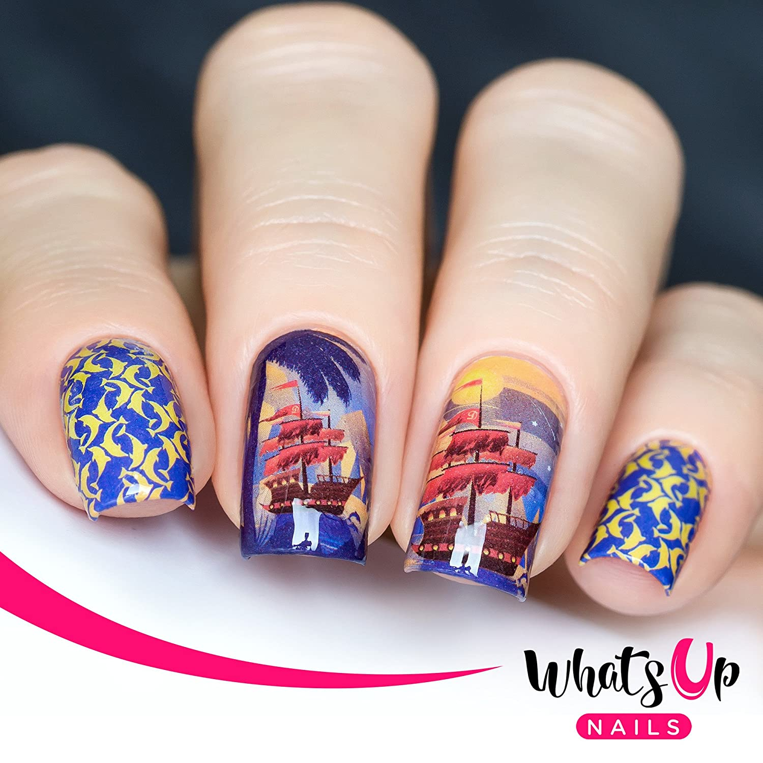 Amazon Com Whats Up Nails P112 Let S Sea The World Water Decals Sliders For Nail Art Design Beauty