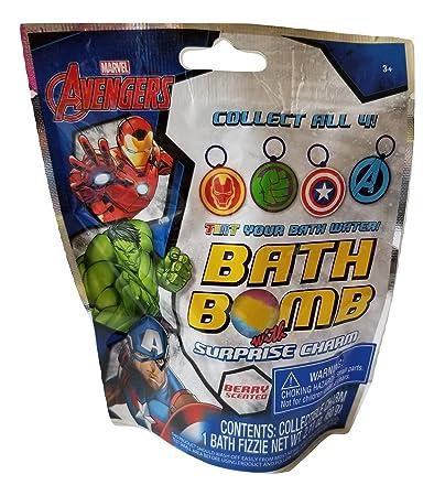 3ede9c5ae620 Amazon.com   GBG Beauty Avengers Kids Bath Bomb Fizzie with Surprise Charm-  1 pack   Beauty