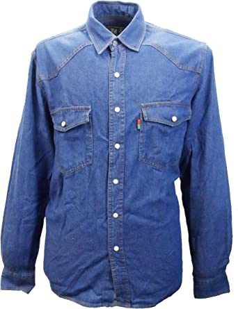 Camisa Vaquera Hombre Duke London Tamaño King Deslavado Top De Manga Larga - algodón, Azul, 100% algodón 100% algodón, hombre, Medium: Amazon.es: Ropa y accesorios