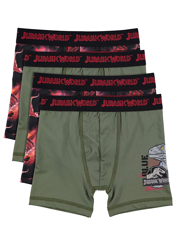 Jurassic World 2 Boys Boxers | Pack of 4 Kids Underwear Jellifish Kids