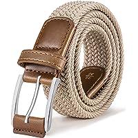 BULLIANT Cinturón Trenzado Elástico,Tejido Extensible Cinturón para Hombres y Mujeres Hebilla de Zinc, Ancho 1 3/8