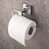 Home Treats Toilet Roll Holder Wall Mounted with Polished Chrome Finish.