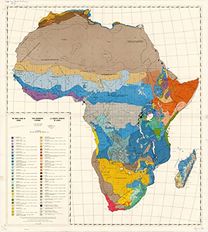 Map Of Africa 1960.Amazon Com Historic Map Africa 1960 The Grass Cover Of Africa