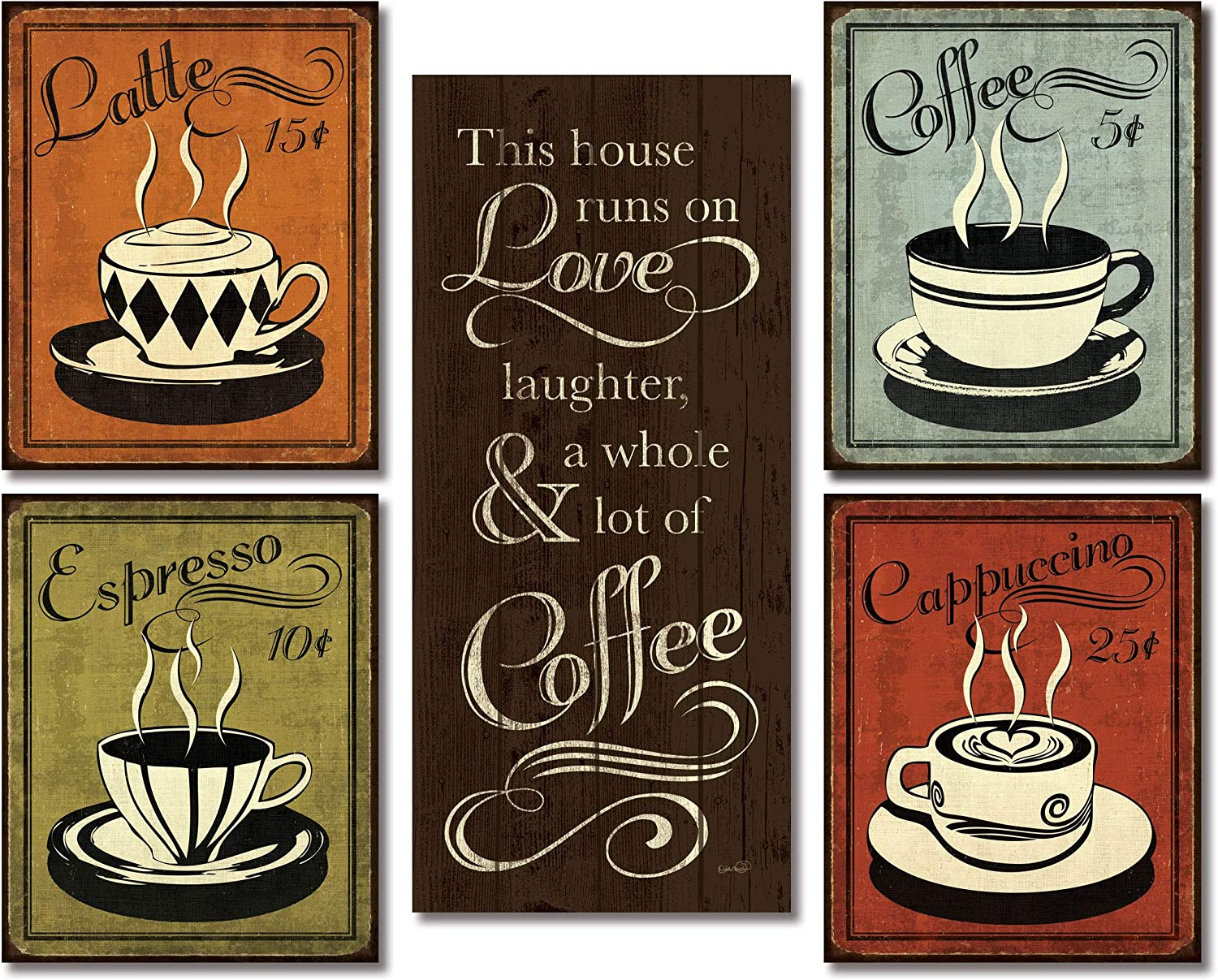 Coffee Cup making Vintage Kraft Paper Wall Decor Poster 51*36 cm 20*14 in
