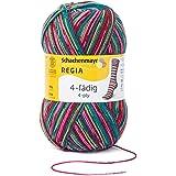 Regia 4-fädig Color 9801269-07707 Schneeanzug Handstrickgarn, Sockengarn, 100g Knäuel