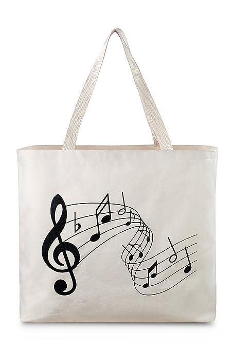 amazon com reusable canvas bag attractive tote bag with printed