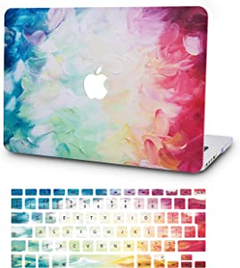 """KECC Laptop Case for MacBook Pro 15"""" (2019/2018/2017/2016) w/Keyboard Cover Plastic Hard Shell A1990/A1707 Touch Bar 2 in 1 Bundle (Fantasy)"""