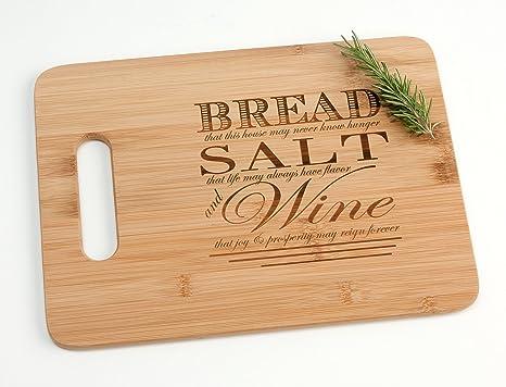 amazon com engraved wood cutting board housewarming gift bread