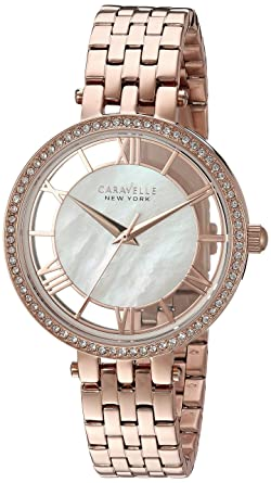 8b2e18ac969 Amazon.com  Caravelle New York Women s Quartz Stainless Steel Watch ...