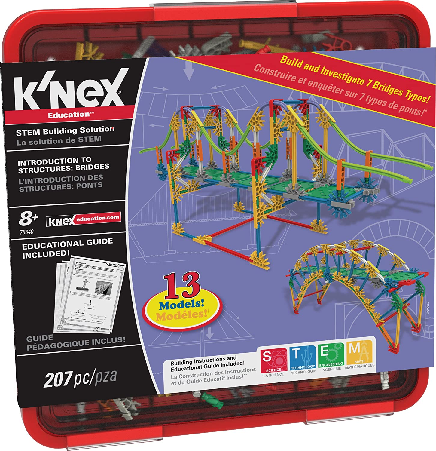 K'NEX Education – Intro to Structures: Bridges Set – 207 Pieces