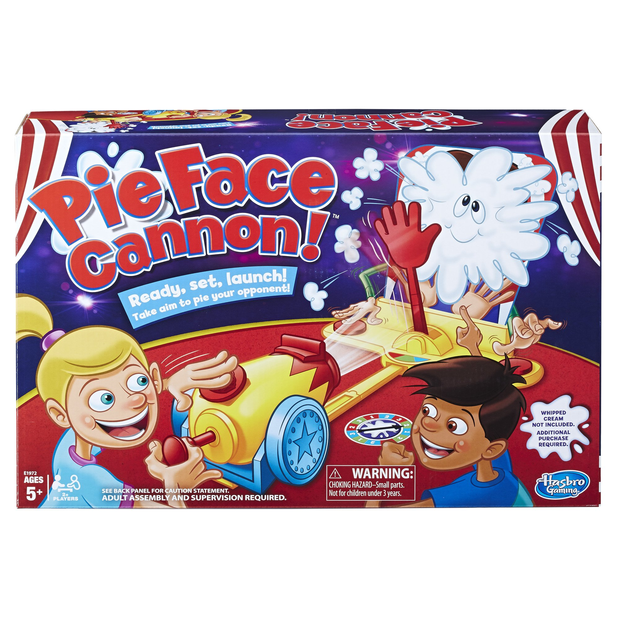 Pie Face Cannon Game Whipped Cream Family Board Game Kids Ages 5 and Up by Hasbro Gaming
