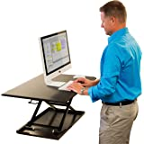 AirRise Standing Desk Hub Sit Stand Desk Converter Adjustable to any height; Computer Workstations for Home and Office Use (Black)