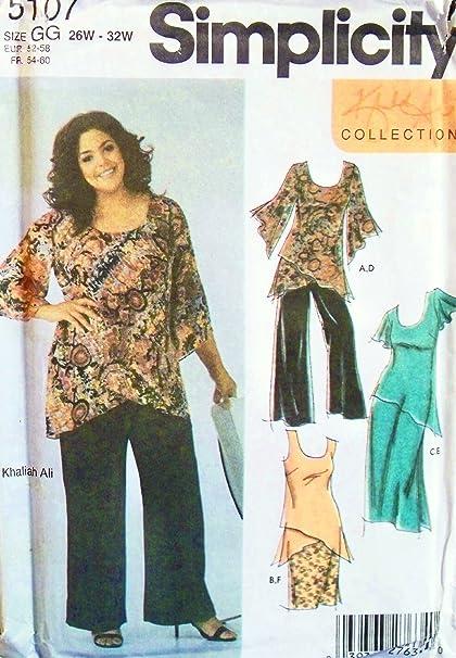Amazon Simplicity 5107 Sewing Pattern Khaliah Ali Womens Full