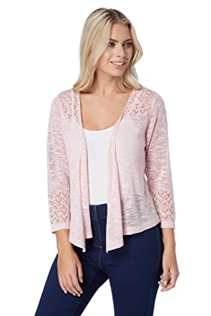 Roman Originals Women Pointelle Drop Needle Shrug - Cardigans Ladies Summer  Spring Lightweight Cruise Outfit Wedding Knitwear - Pink: Amazon.co.uk:  Clothing