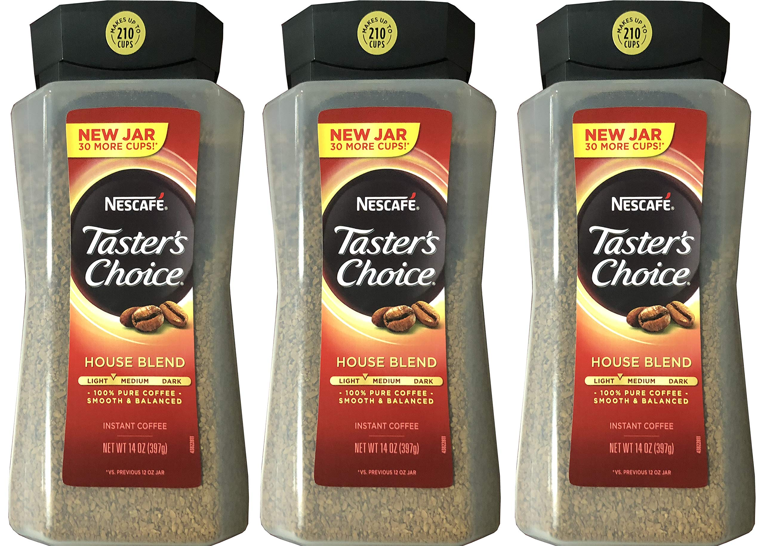 Taster's Choice Original Gourmet Instant Coffee 14 Oz, Pack of 3 by Taster's Choice