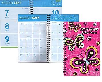 2017 - 2018 año agenda calendario espiral Organizador ...