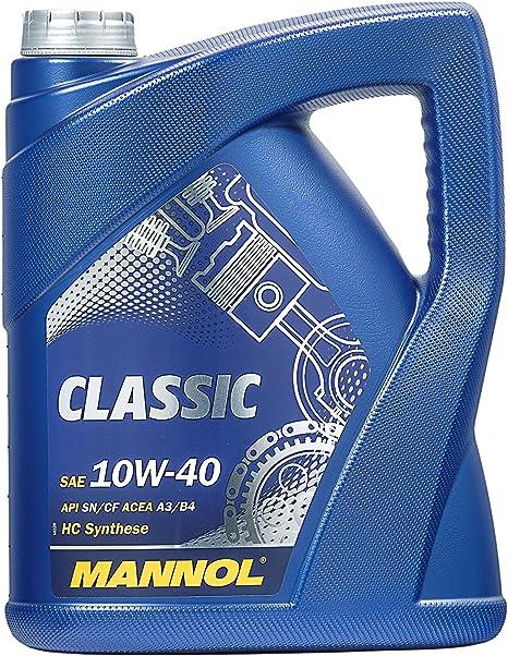 Mannol Classic 10w 40 Api Sn Sm Cf Motorenöl 5 Liter Auto