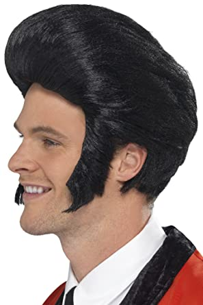 Smiffys 50s Quiff King Wig With Sideburns