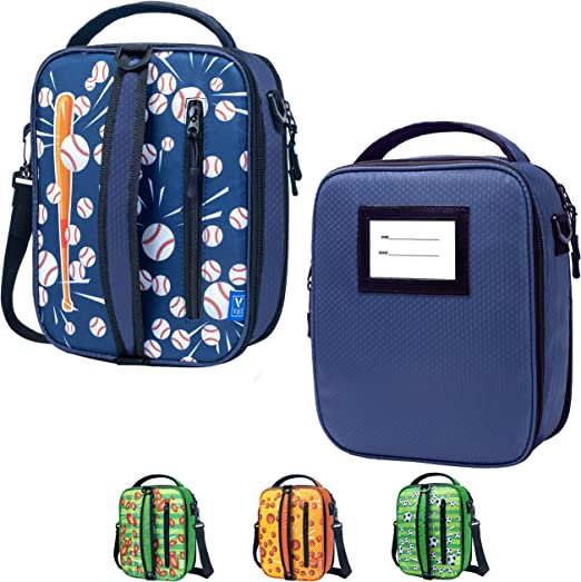 Fit and Fresh Package Bag Handbag Lunch Box Insulated for School Girls Boys Students Lunch Container V-COOOL Kids Lunch Bag