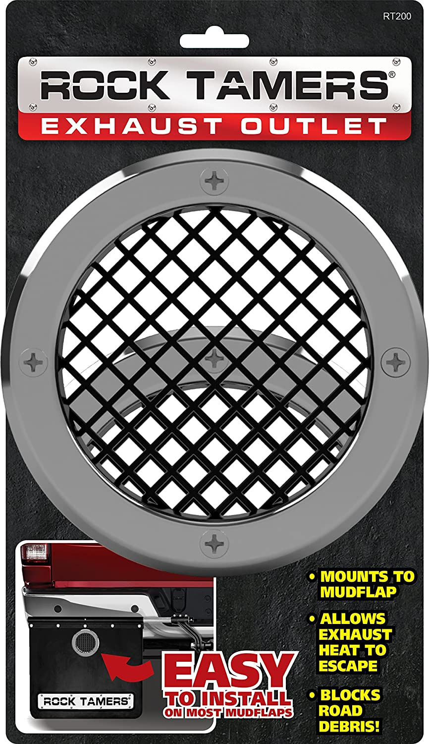 ROCK TAMERS RT200 Chrome/Black Exhaust Outlet, 2 Pack, 2 Pack