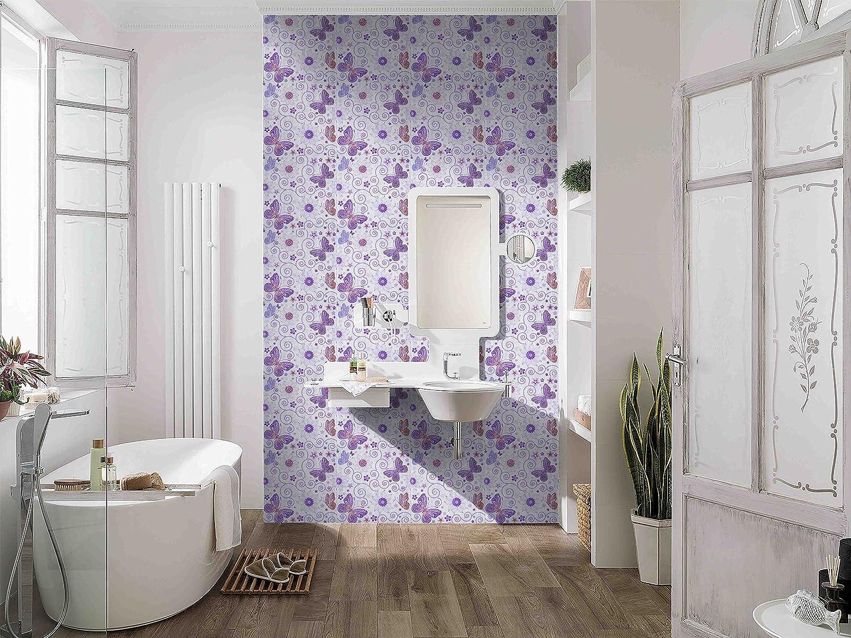 Amazon.com: Purple Peel and Stick Tile Backsplash, Butterfly Grove ...