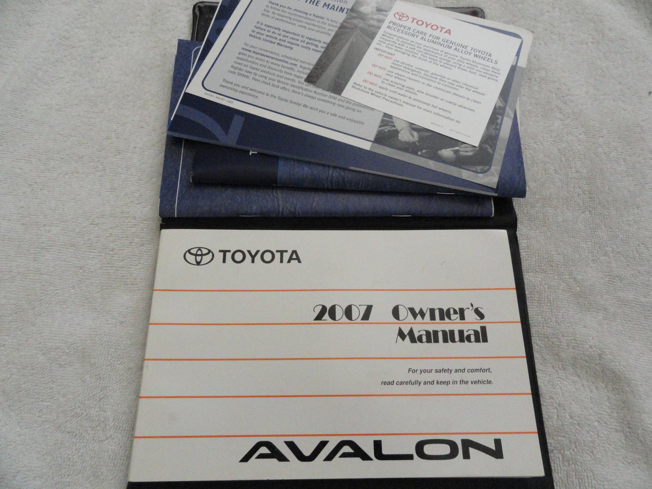 2007 toyota avalon owners manual toyota amazon com books rh amazon com 2008 Toyota Avalon Interior 2008 Toyota Avalon