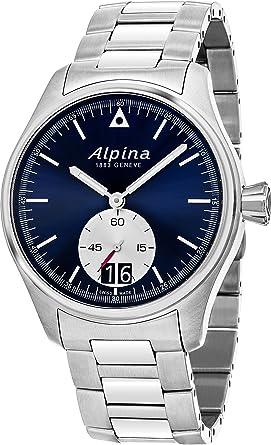 Amazoncom Alpina Startimer Pilot Big Date Mens Watch Mm Navy - Alpina watch reviews