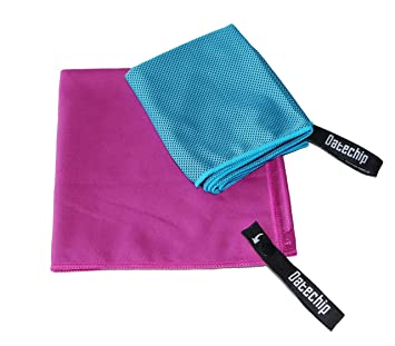 Suave toallas de microfibra deportes de Set – datechip toalla Super absorbente toalla de playa,