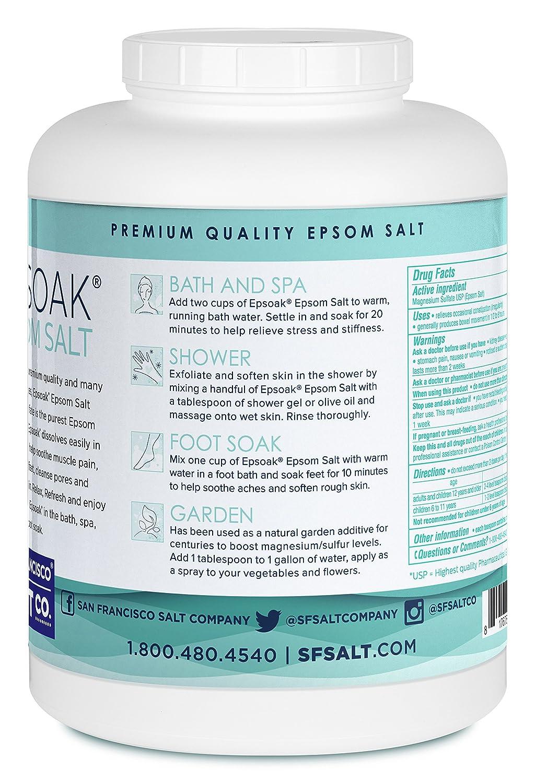 Amazon Epsoak Epsom Salt 35lb Canister USP Magnesium
