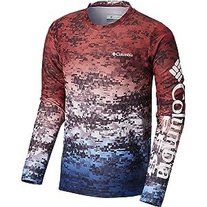 3e855eb14c3e5 Columbia Mens PFG Terminal Tackle Camo Fade Long Sleeve Shirt (Cool ...