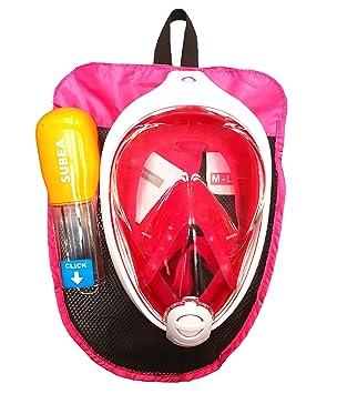 Original nuevo subea por Tribord EASYBREATH Snorkeling máscara buceo rosa talla S-M (Kids, para