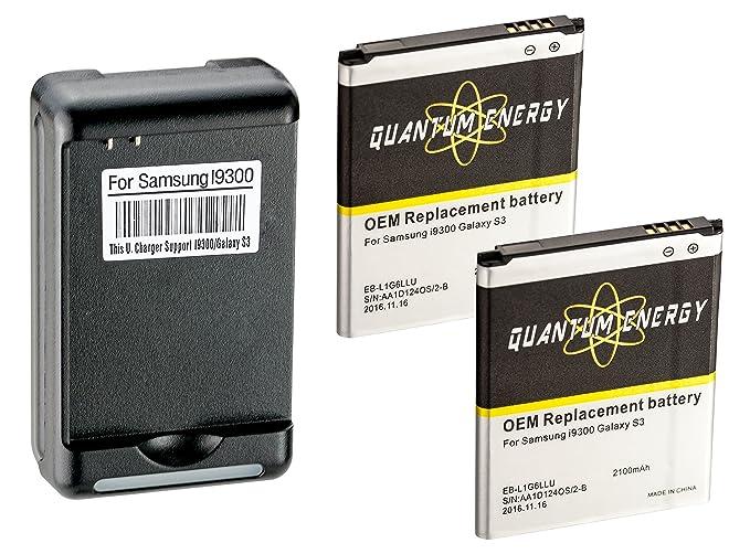 Amazon.com: 2x Baterías QUANTUM ENERGY para Samsung Galaxy ...