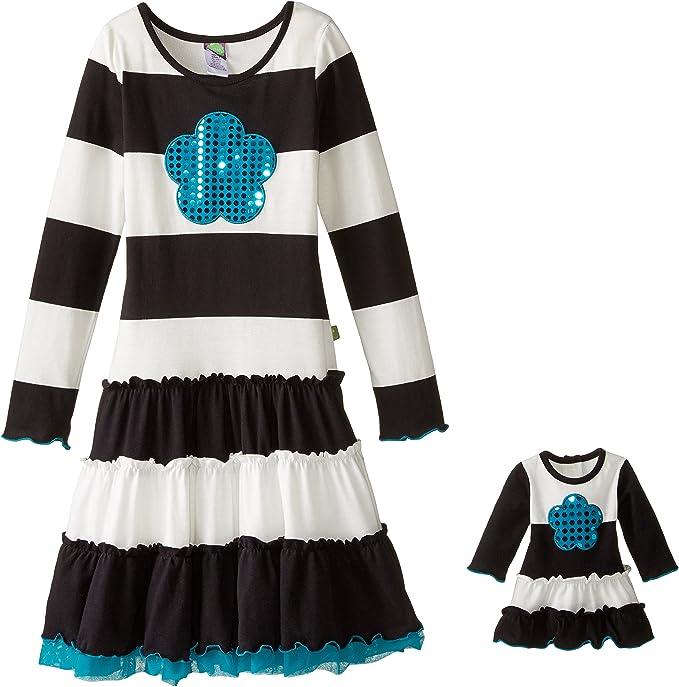 Amazon.com: Dollie & Me Knit de las niñas rayas Vestido con ...