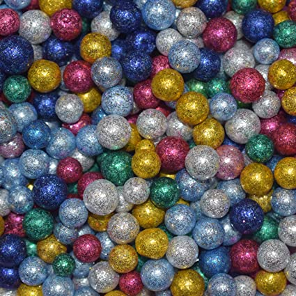 Asian Hobby Crafts Multicolor Thermocol Balls For Party Decorations