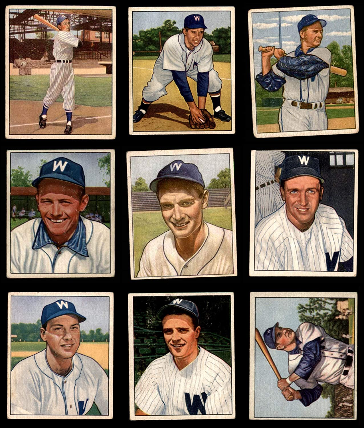 1950 Bowman Washington Senators in der Nähe von Team Satz Washington Senators (Baseball Set) Dean'S Cards 3 - Vg Senators