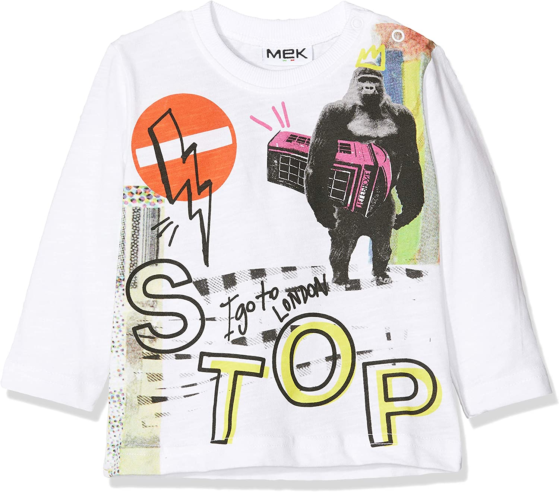 MEK Boys T-Shirt Jersey Fiammato Long Sleeve Top