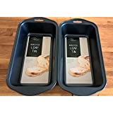 Non-stick 2lb Loaf Tin(set of 2) with Euro-hole Slot For Hanging(24x 13 x 5.8 cm)
