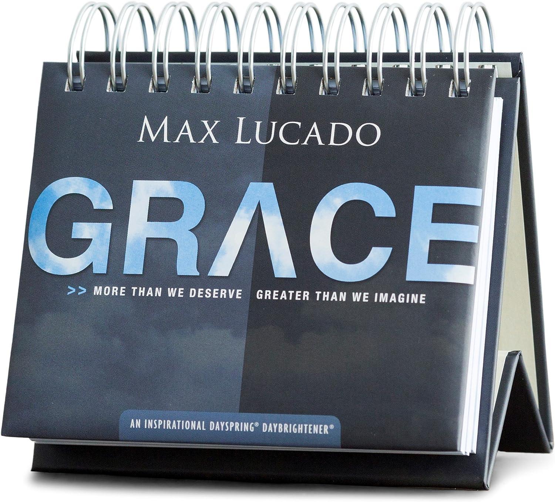 Max Lucado GRACE Inspirational Perpetual Flip Calendar by DaySpring