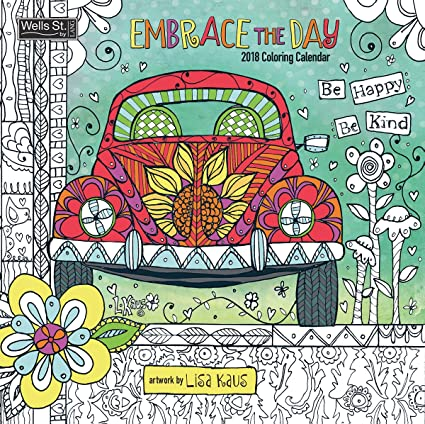 the lang companies wsbl embrace the day coloring 2018 coloring 12x12 wall calendar office wall