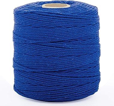 Cuerda Macrame Azul Real - Cuerda Algodon 240 Metros de Largo 2 a ...