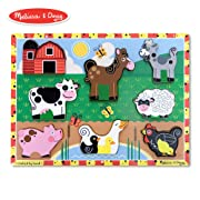 Melissa & Doug Farm Chunky Puzzle (Preschool, Chunky Wooden Pieces, Full-Color Pictures, 8 Pieces)