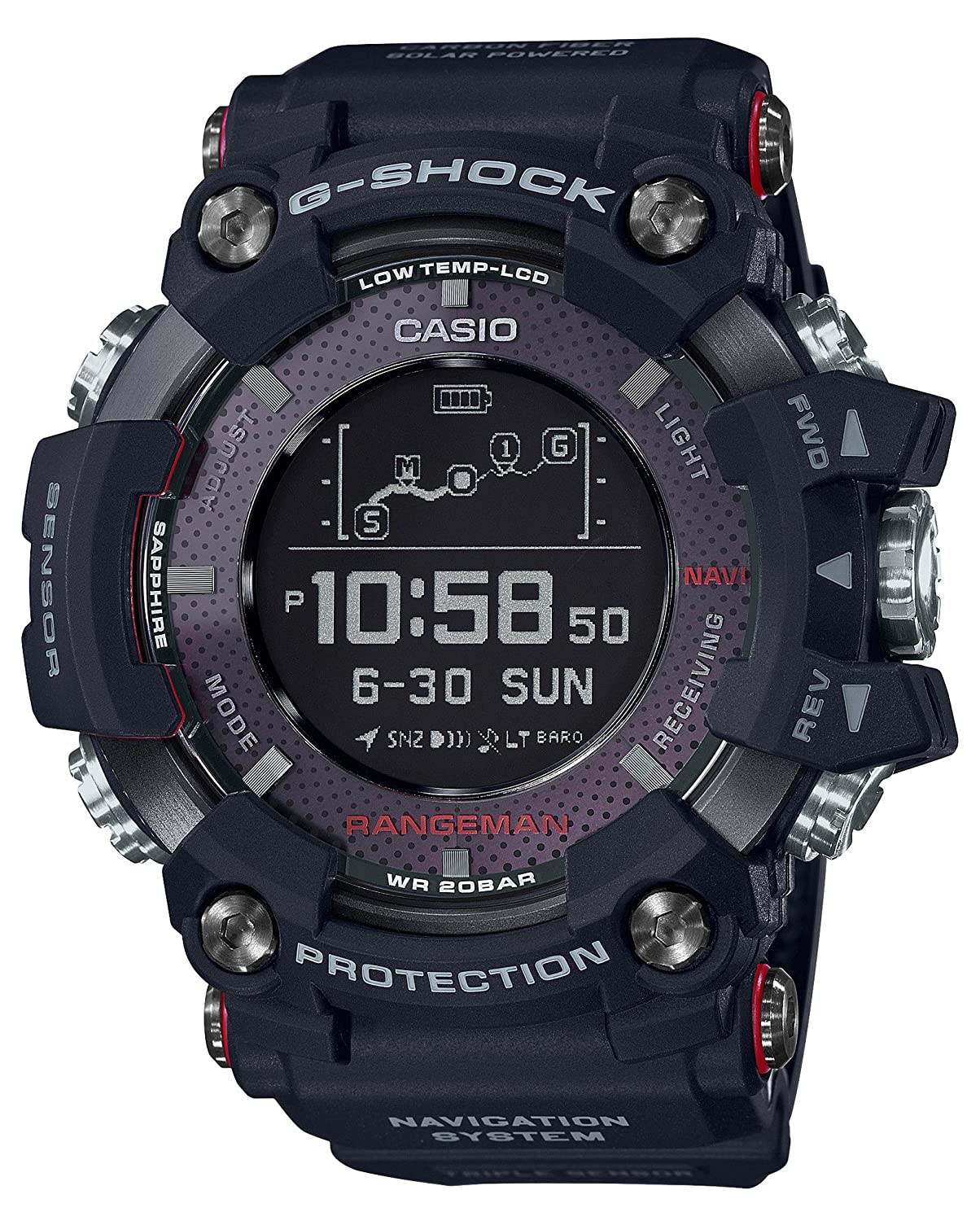 size 40 7bfcf 38d10 Casio G-SHOCK RANGEMAN Solar-Assisted GPS Navigation GPR-B1000-1JR Mens  Made in japan (JAPAN IMPORT)