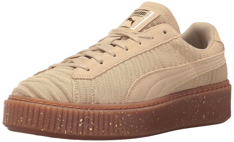 PUMA Women's Basket Platform OW Wn Sneaker B01MXYTG34 7.5 M US|Safari-safari-whisper White