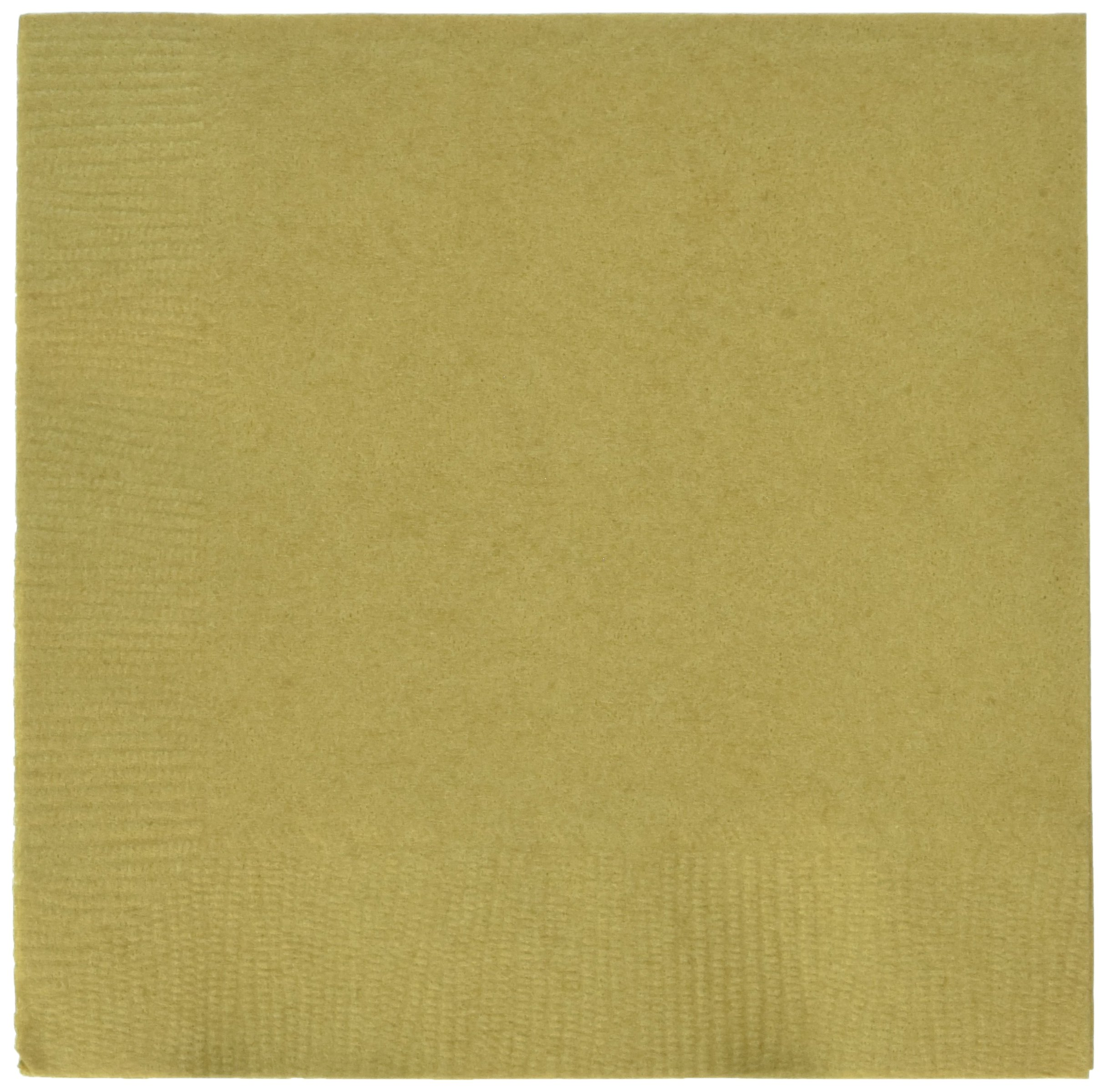 Gold 2-Ply Beverage Napkins | Pack of 50 | Party Supply