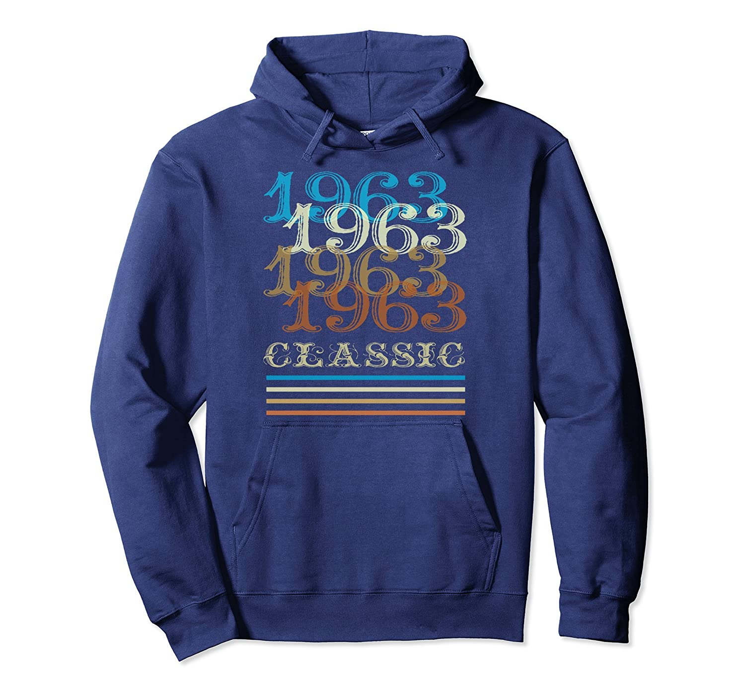 1963 Hoodie Classic Vintage Retro Cool 55th Birthday Gifts-anz